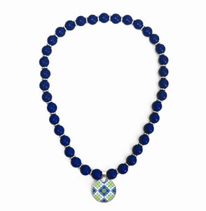 Moroccan Blue Beaded Necklace