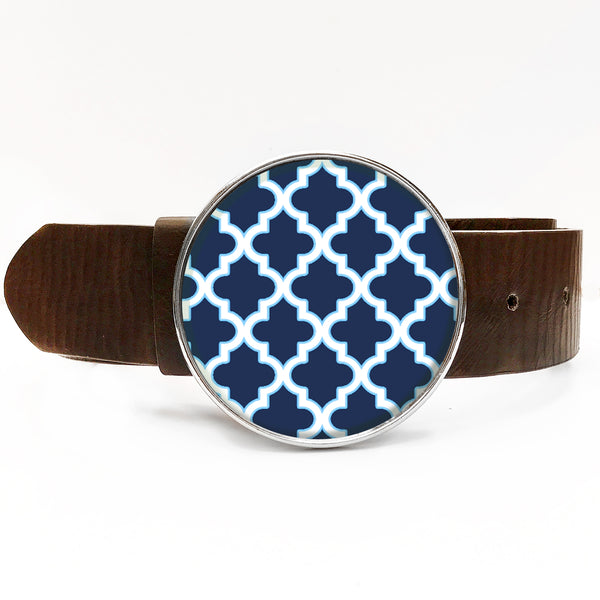 Moroccan Blue Belt Buckle