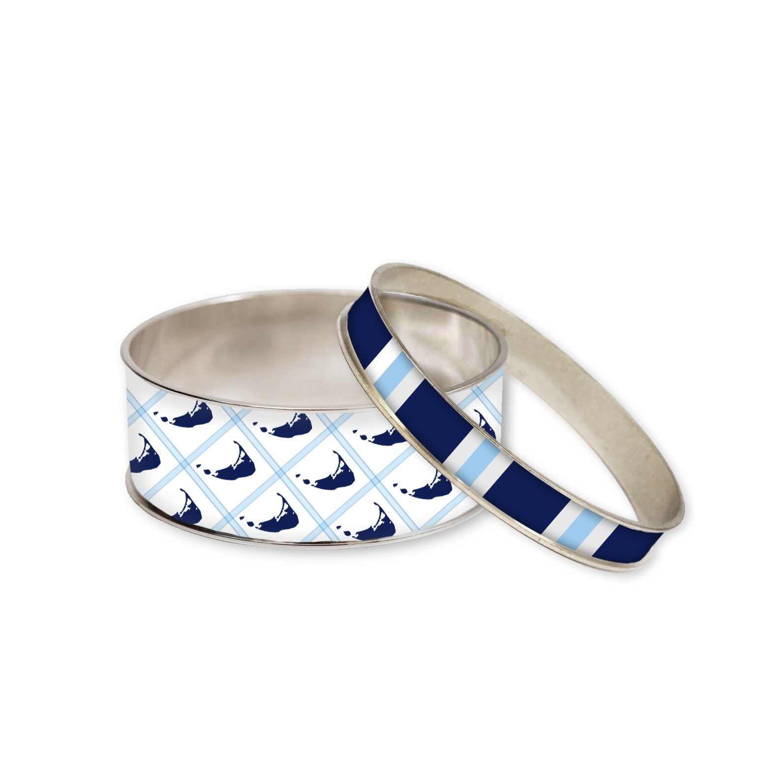 Nantucket Blue Bangle Set