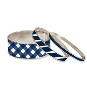 In the Navy Stackable Bangle Set