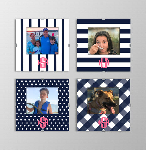 Monogram Photo Frames | In the Navy