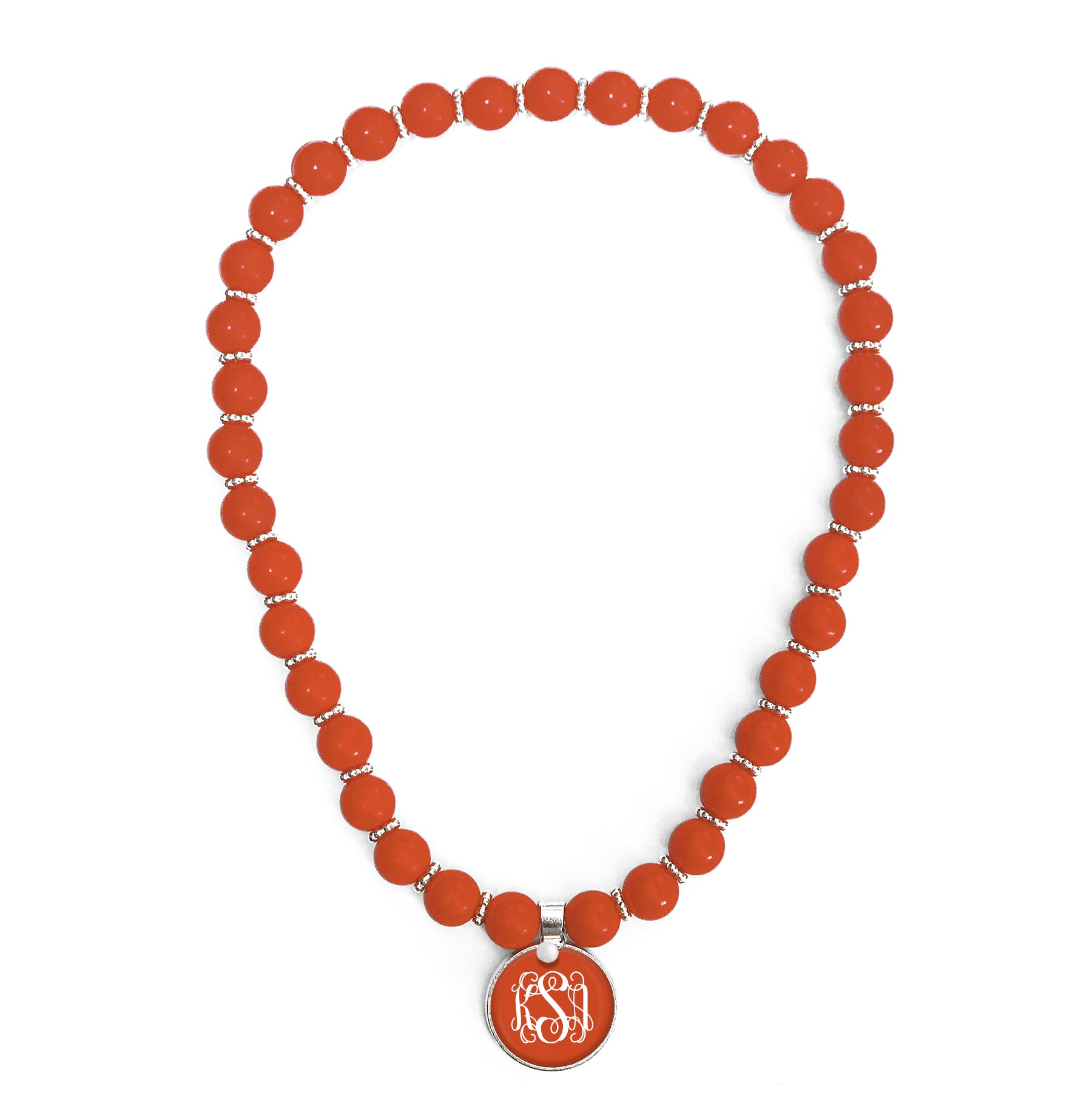 Beaded Monogram Necklace - Clementine