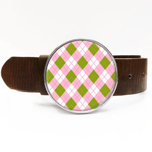 Argyle Pink Belt Buckle