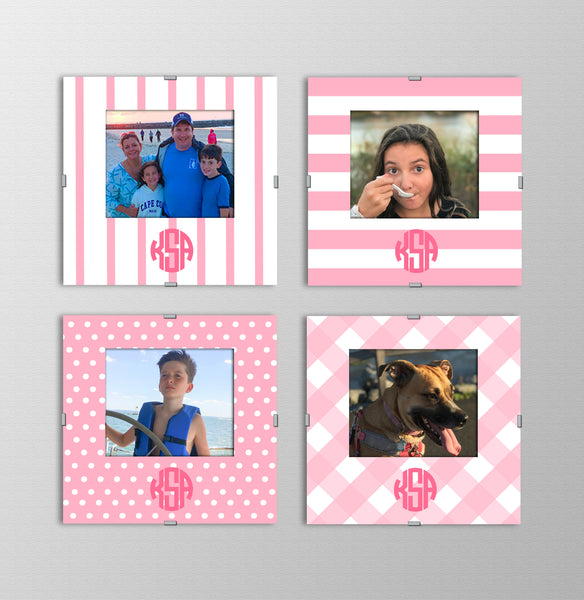 Monogram Photo Frames | Tickled Pink