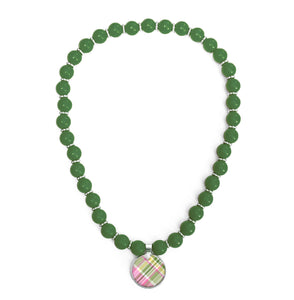 Madras Pink Beaded Necklace