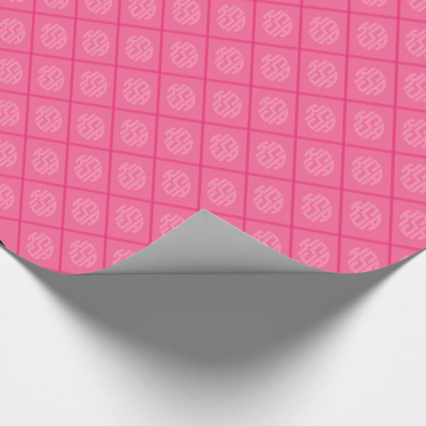 Tickled Pink Monogram Wrapping Paper