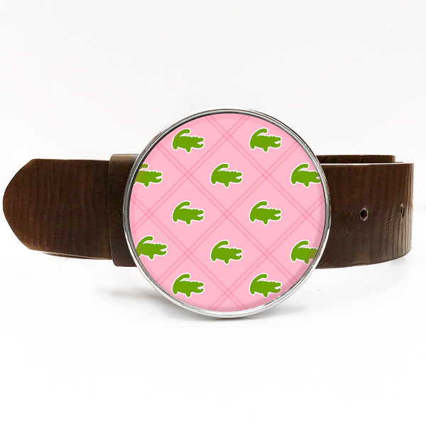 Preppy Gator Belt Buckle
