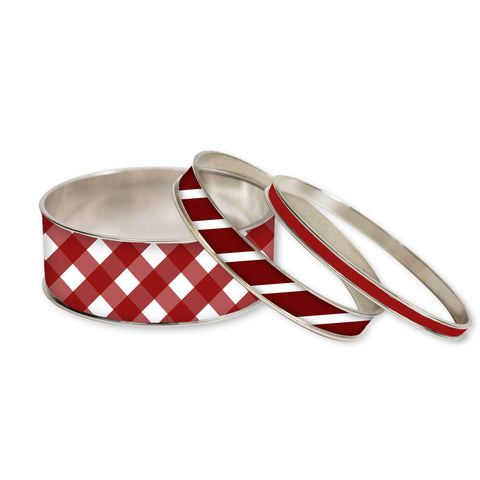 Simply Red Stackable Bangle Set