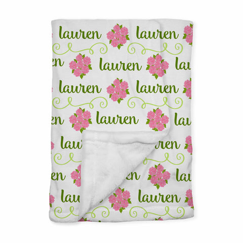 Personalized Baby Blanket | Sconset Pink