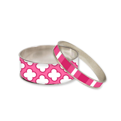 Signature Petal Pink Bangle Bracelet Set