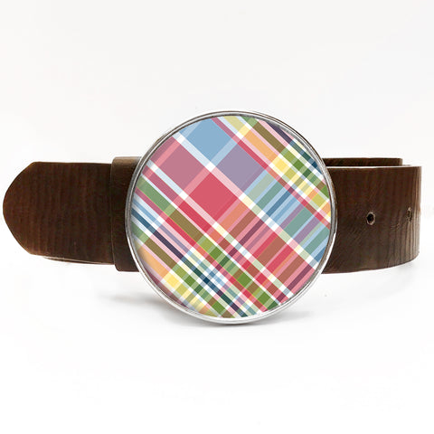 Signature Plaid Belt Buckle