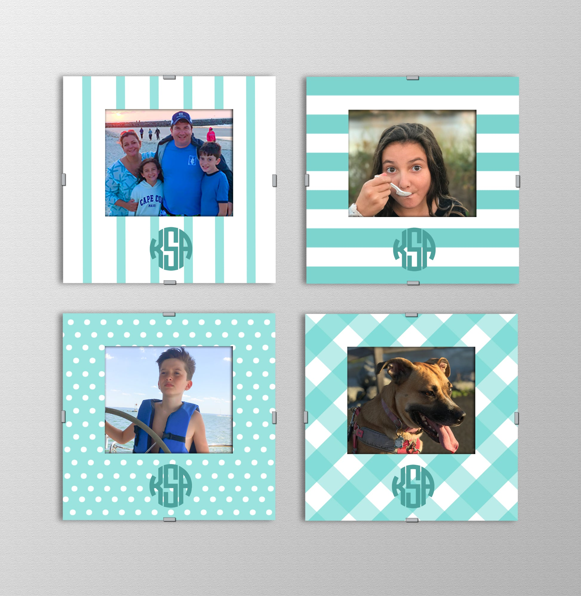 Monogram Photo Frames | Keep it Teal
