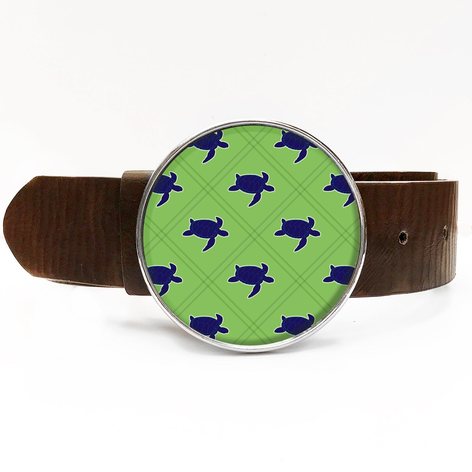 Preppy Turtle Belt Buckle