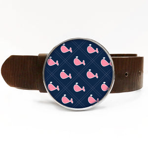 Preppy Whale Belt Buckle