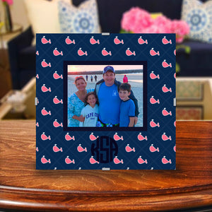 Monogram Photo Frame | Preppy Whale Repeat