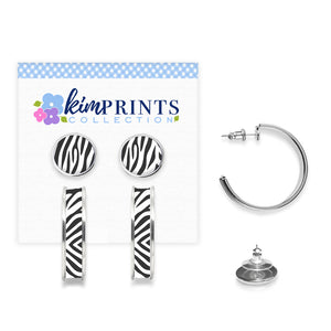 Zebra Earring Set
