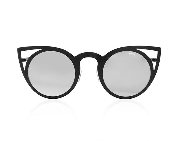 Metal Meow- Matte Black with Silver Mirror Lens