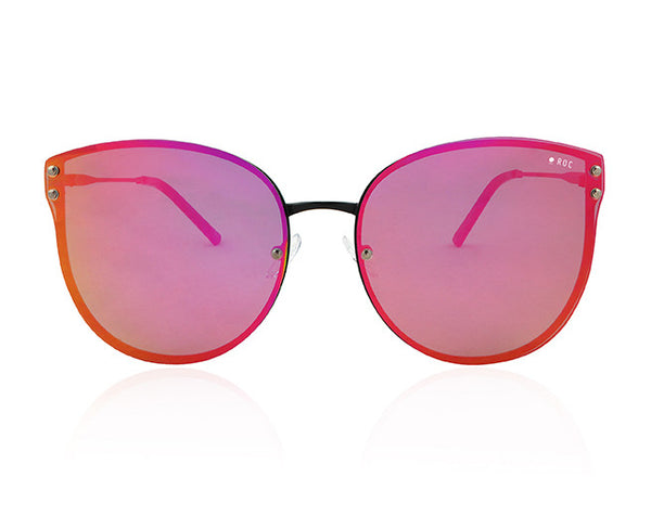 HANGOVER - Black with Pink Orange Lens