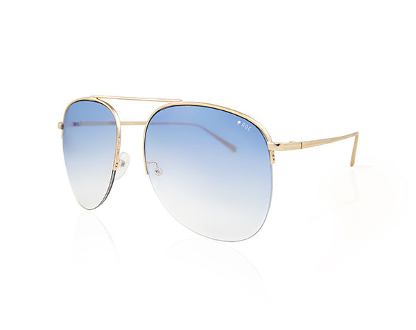 MALIBOO - Gold with Gradient Blue Lens 2