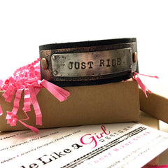 Just Ride Leather Cuff Bracelet