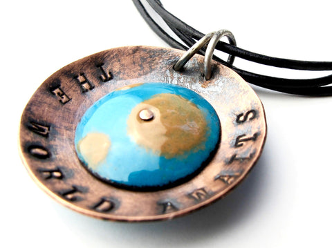 """The World Awaits"" Necklace"