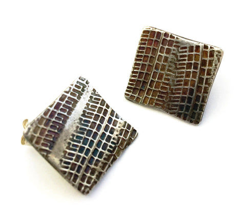 Tredz Square Stud Earrings