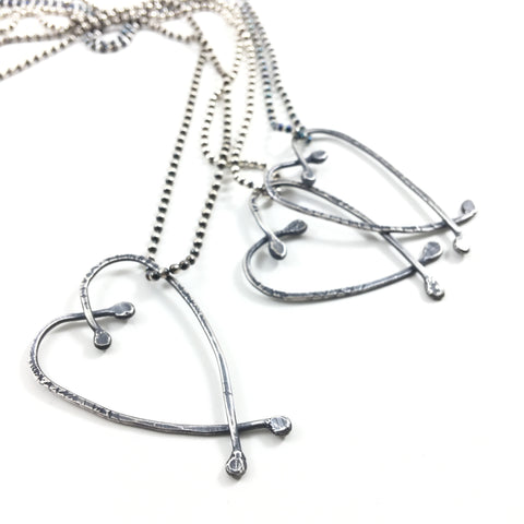 Messy Open Heart Necklace