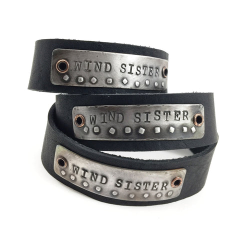 """Wind Sister"" Leather Cuff Bracelet"