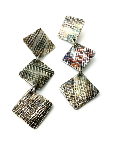 Tredz Collection Triple Square Dangle Earrings