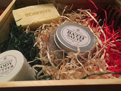 beauvivo gift set with bath salts and soap