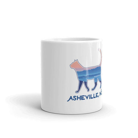 ASHEVILLE BLUE RIDGE MOUNTAIN CAT - CERAMIC MUG MADE IN THE USA - Devoted Human