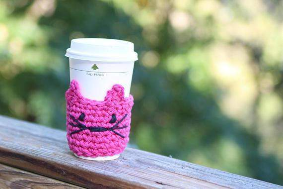 Handmade Kitty Koozie for Coffee Lovers - Devoted Human