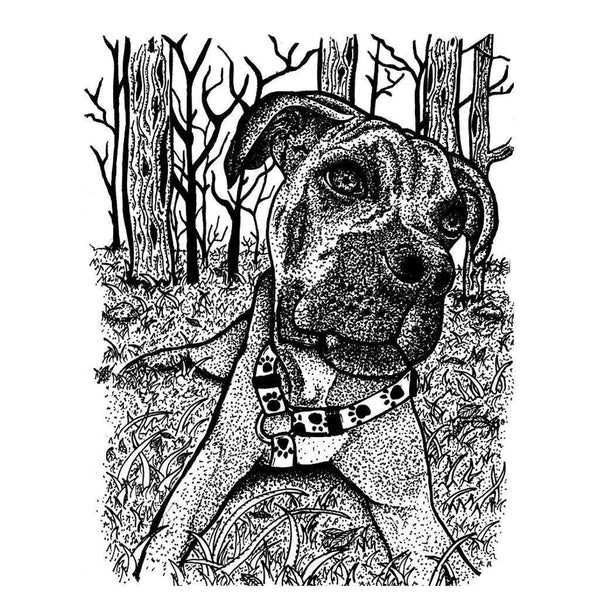 Happy Boxer Print with Black Mat - Devoted Human