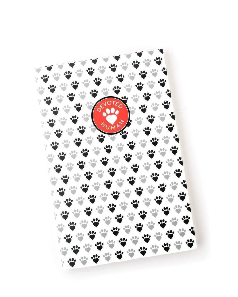 Paw Print Devoted Human Letterpress Journal - large - Devoted Human