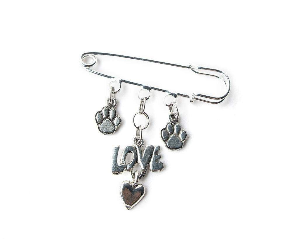 Puppy Love - safety pin jewelry -- FREE SHIPPING! - Devoted Human