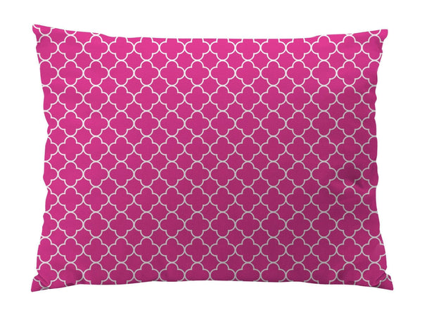 Quatrefoil/Clover Print Indoor/Outdoor Dog Bed - Devoted Human