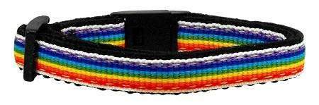 Rainbow Ribbon Breakaway Cat Collar - Devoted Human