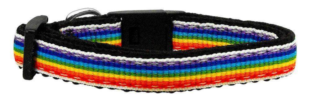 Rainbow Ribbon Dog Collar - Devoted Human
