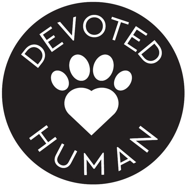 Round Devoted Human Vinyl Sticker - black & white - Devoted Human