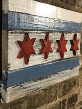 Reclaimed Wood Chicago Flag