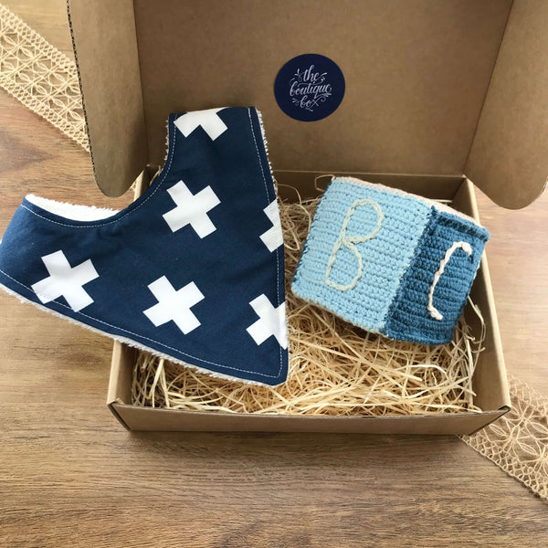 """Bib 'n' Block"" Baby Boy Gift Bundle"