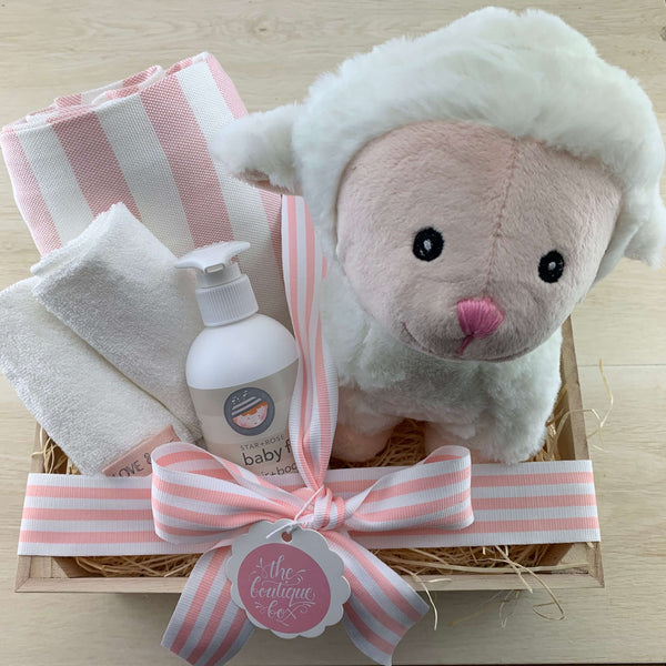 """Lucy Lamb"" Baby Girl Gift Bundle"