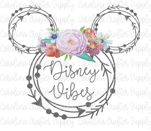 Disney Mouse Ears Sublimation Design