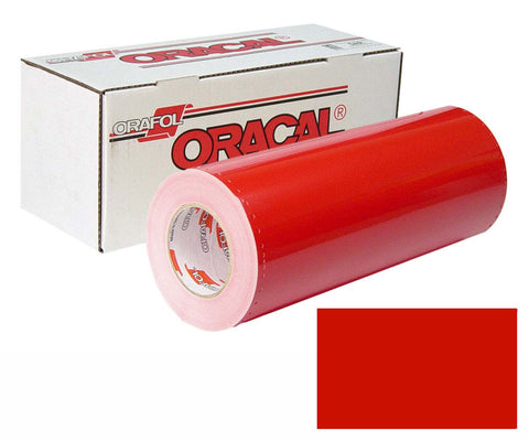 "Red Oracal 751 12x12"" Cast Adhesive Vinyl, High Performance Permanent Outdoor Vinyl - Carolina Crafter Supply"