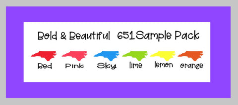 Bold & Beautiful Oracal 651 Sample Pack 6 12x12 Sheets 651 Vinyl Oracal Sample Pack Decal Vinyl Red Oracal 651 Vinyl - Carolina Crafter Supply