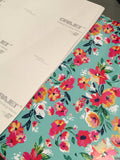 Adhesive Vinyl - Floral Oracal Vinyl - Flower Garden Patterned Adhesive Vinyl, Floral Oracal 651 Vinyl, Orajet Printed Vinyl, Flower Pattern Decal Vinyl