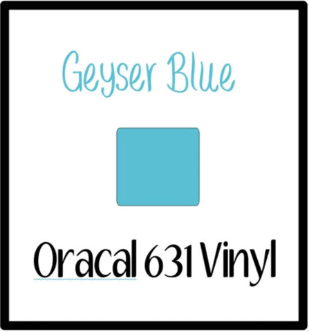 "Geyser Blue Oracal 631 Removable Adhesive Vinyl 12x12"" Sheet Matte Wall Decal Vinyl Geyser Blue Oracal 631 Vinyl White Oracal 631 Vinyl indoor Removable Vinyl - Carolina Crafter Supply"