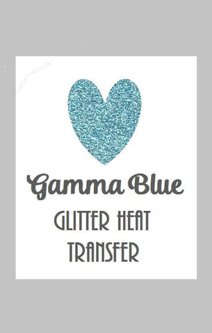 "Gamma Blue Glitter Heat Transfer Vinyl 12x20"" Sheets Glitter HTV Coral Glitter HTV - Carolina Crafter Supply"
