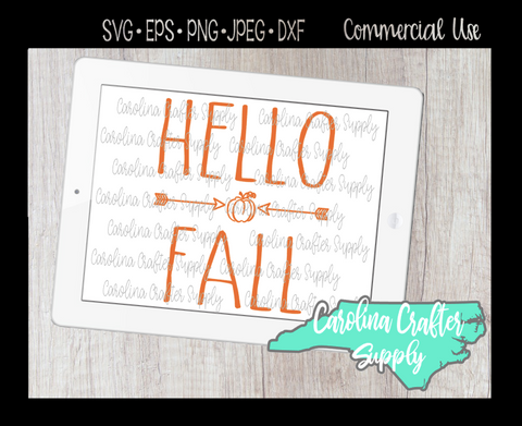 Hello Fall SVG, Fall SVG, Fall Farmhouse Design