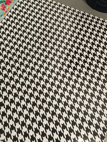 "Houndstooth HTV - Houndstooth Patterned Heat Transfer Vinyl, Houndstooth Heat Transfer Vinyl, Patterned HTV With Transfer Mask Included! 12x12"" Sheet"